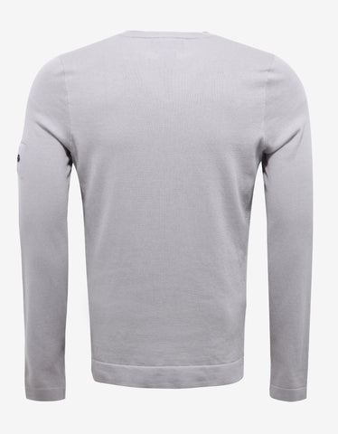 Stone Island Shadow Project Grey Cotton Sweater