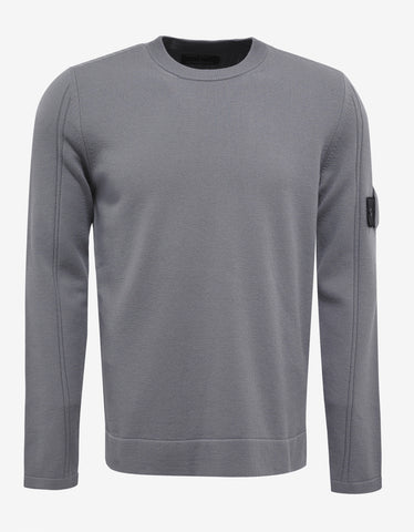 Stone Island Shadow Project Grey Wool Blend Sweater