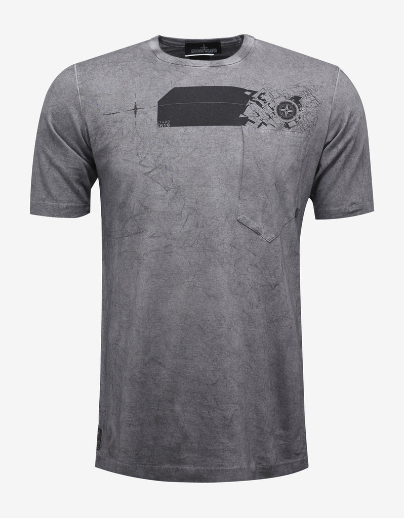 Grey Garment Dyed Graphic T-Shirt