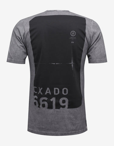 Stone Island Shadow Project Grey Garment Dyed Graphic T-Shirt