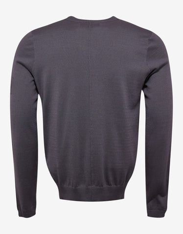 Stone Island Shadow Project Grey Sweater with Chest Pocket