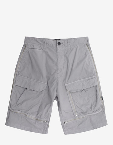 Stone Island Shadow Project Grey Vented Cargo Shorts