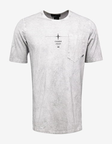 Stone Island Shadow Project Light Grey Over Dyed Graphic T-Shirt