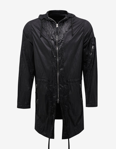 Stone Island Shadow Project Lucid Black Nylon Raincoat