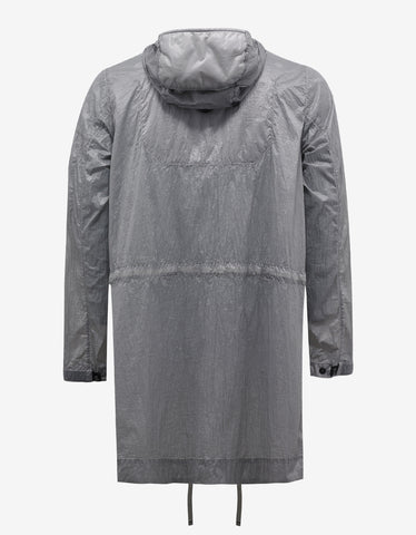 Stone Island Shadow Project Lucid Grey Nylon Raincoat