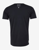 Navy Blue Chest Pocket Graphic T-Shirt