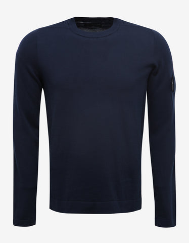Stone Island Shadow Project Navy Blue Cotton Sweater
