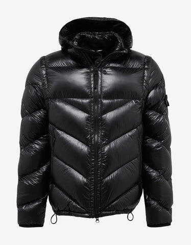 Stone Island Shadow Project Pertex Quantum Y Black Nylon Down Jacket