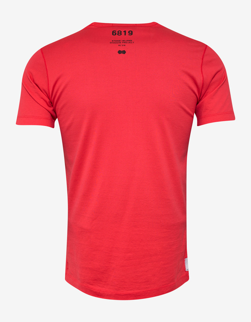 Pink Chest Pocket Graphic T-Shirt