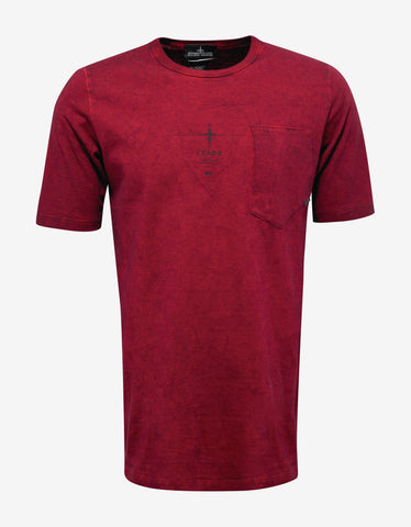 Stone Island Shadow Project Red Over Dyed Graphic T-Shirt
