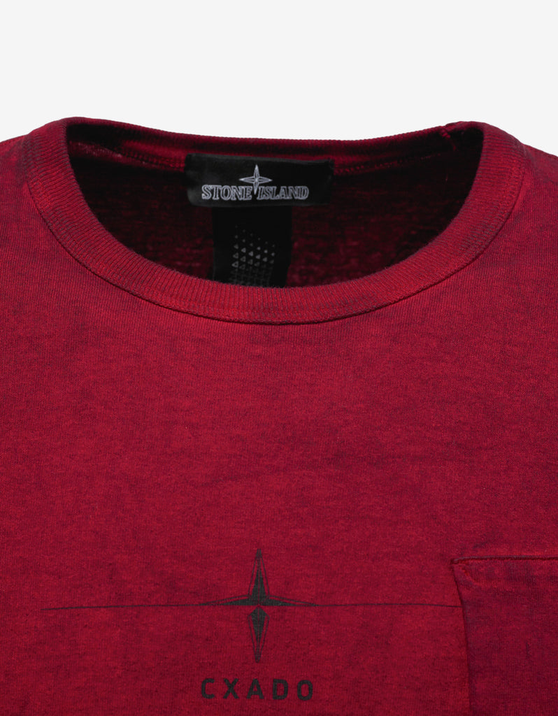Red Over Dyed Graphic T-Shirt