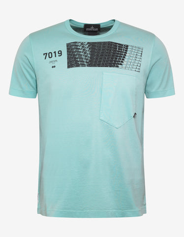 Stone Island Shadow Project Teal Graphic T-Shirt