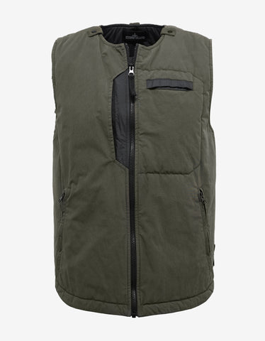 Stone Island Shadow Project Tela 50 Fili 2L Green Gilet