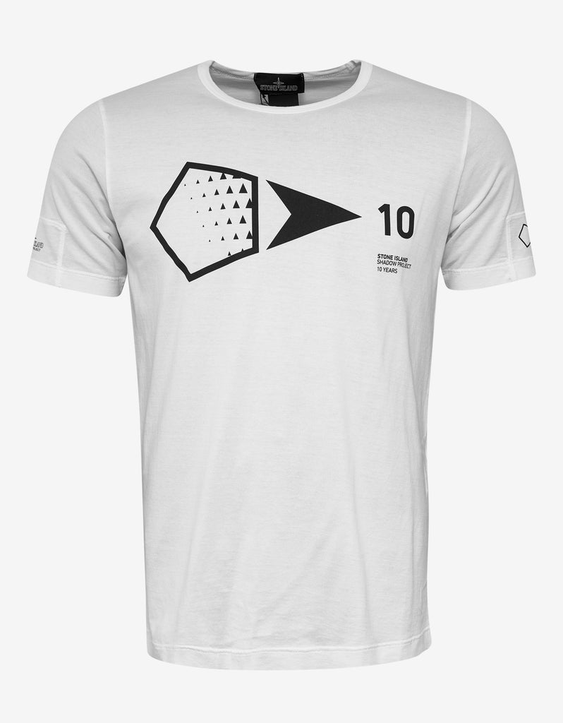 83d69c4be Stone Island Shadow Project White 10th Anniversary Print T-Shirt ...