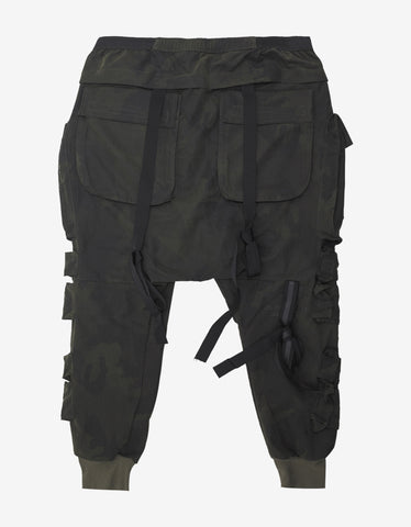 Ben Taverniti Unravel Project Green Camouflage Parachute Pants