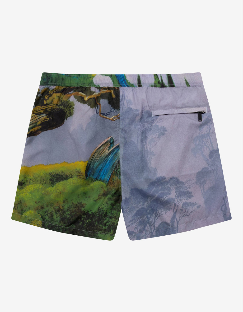 Blind Owl Print Swim Shorts