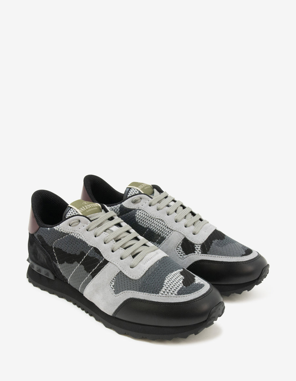 Grey Mesh Camouflage Rockrunner Trainers
