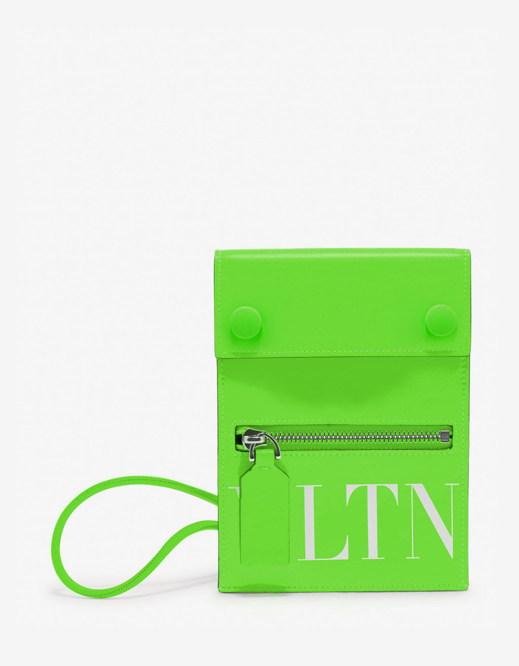 Neon Green VLTN Neck Pouch