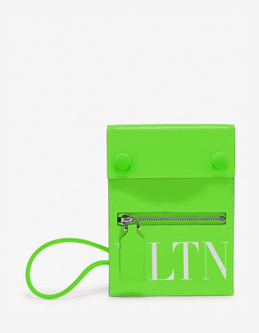 Neon Orange VLTN Neck Pouch