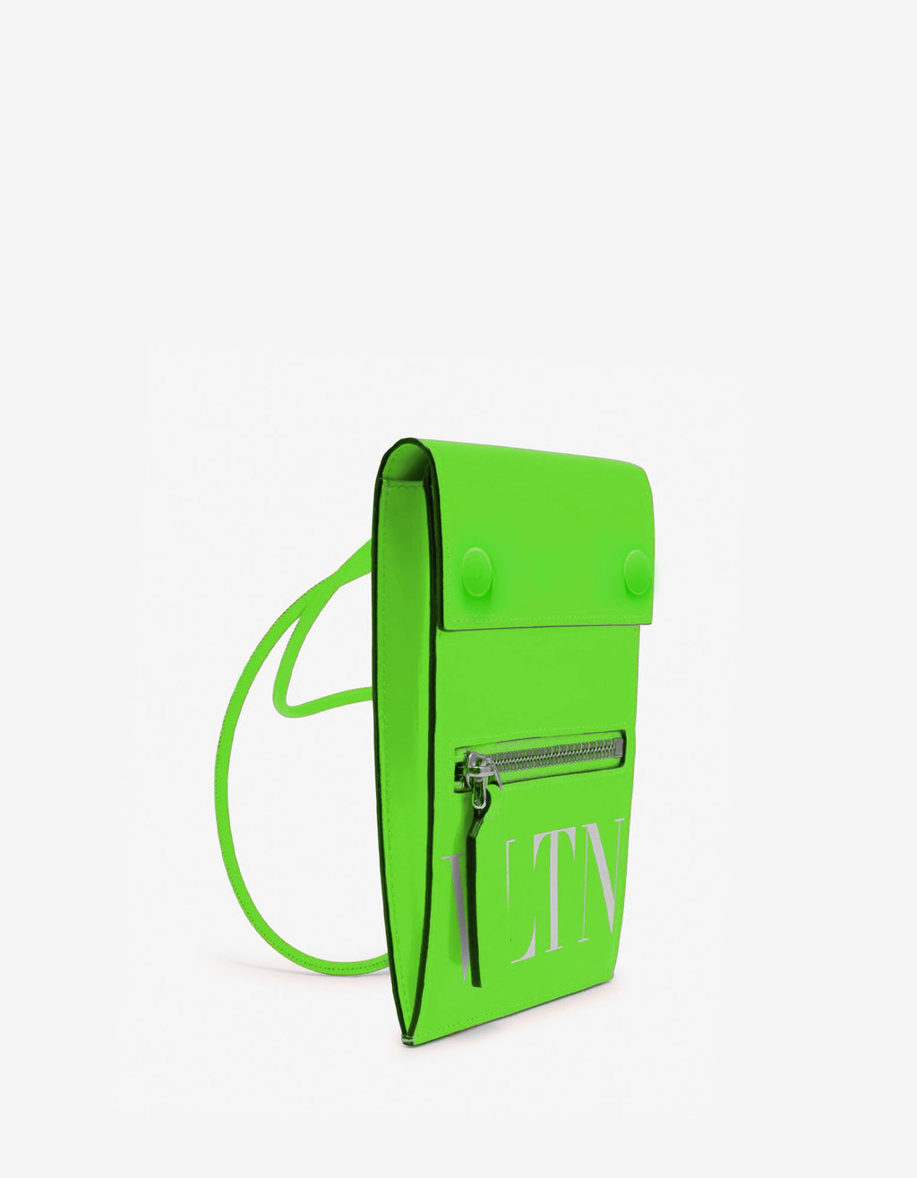Neon Green VLTN Neck Pouch -