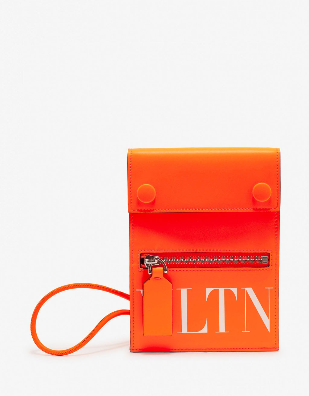 Neon Orange VLTN Neck Pouch -