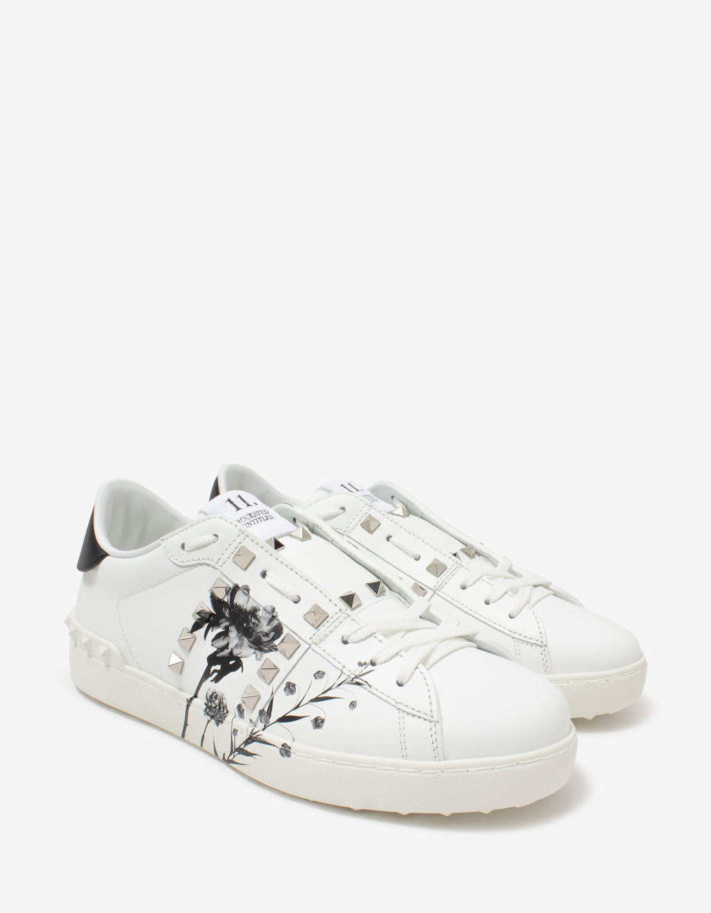 Rockstud Untitled Flowersity White Trainers