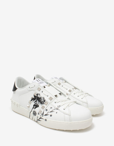 Andy Black Stud-Embellished Leather Trainers
