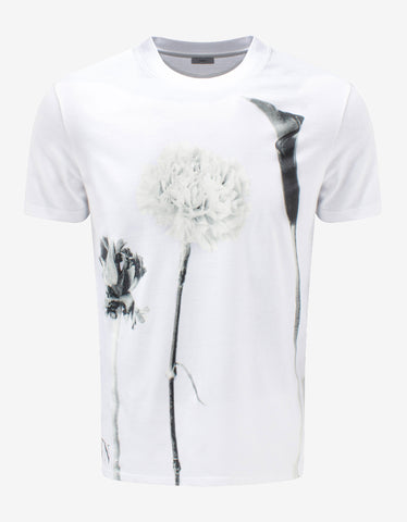White Perfume Bottle Print T-Shirt