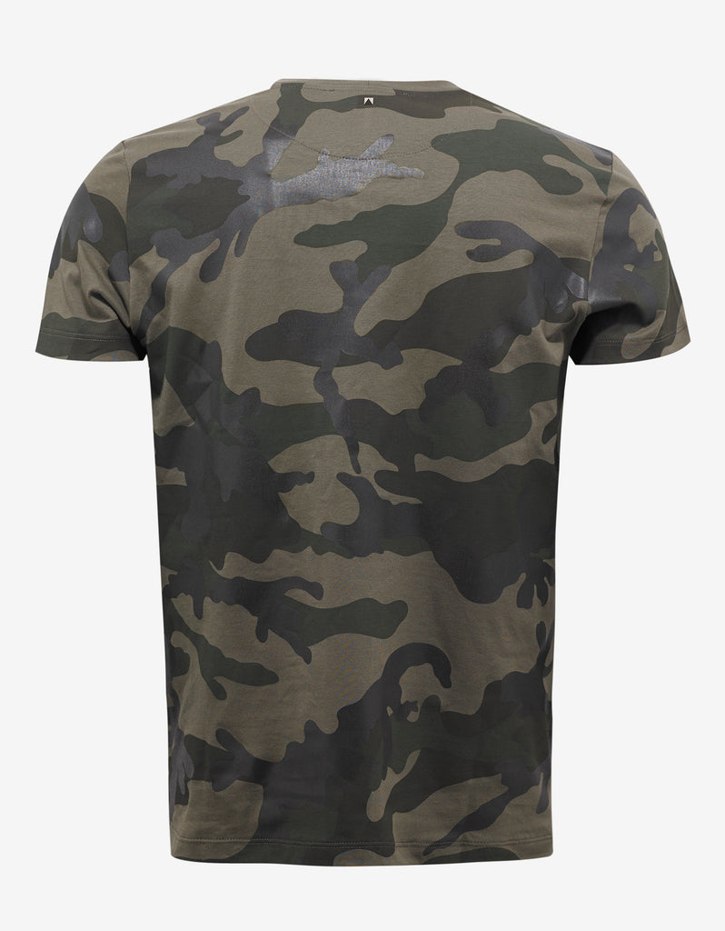 Army Green Camouflage Print T-Shirt