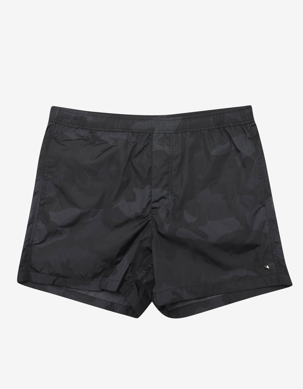 Black Camouflage Print Swim Shorts