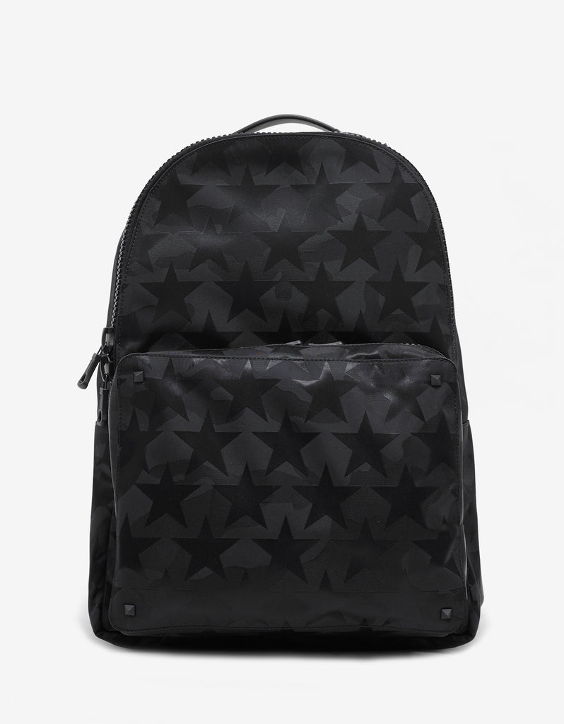 Black Camustars Canvas Backpack