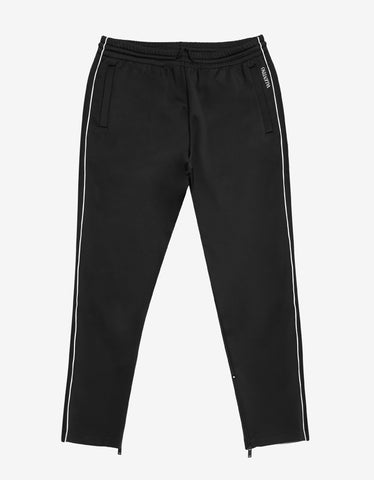 Valentino Black Nylon Blend Logo Sweat Pants