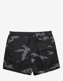 Black & Gunmetal Camo Print Swim Shorts