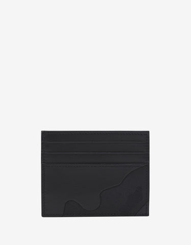 Valentino Garavani Black Camouflage Card Holder