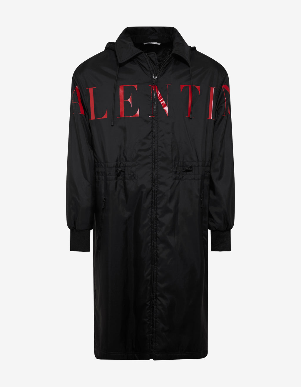 Black Logo Raincoat