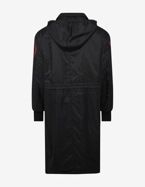 Black Logo Raincoat -
