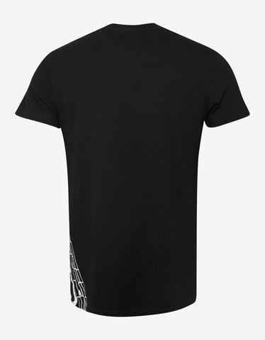 Valentino Black Logo Tower Print T-Shirt