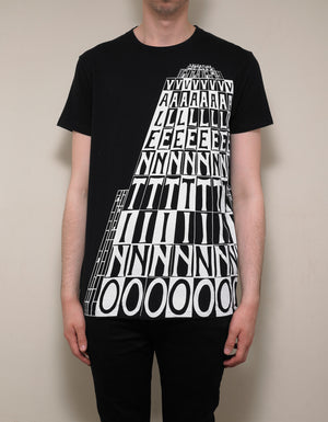 Black Logo Tower Print T-Shirt