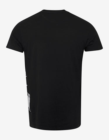 Valentino Black Logo Tree Print T-Shirt