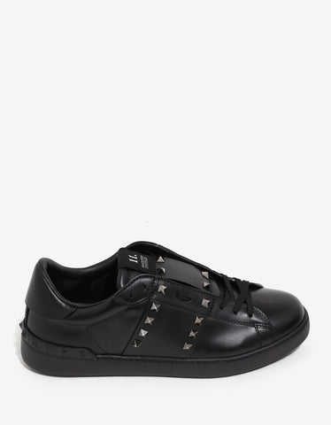 Valentino Garavani Rockstud Untitled Black Trainers