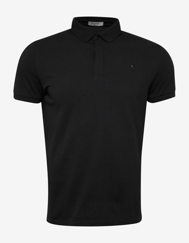 Valentino Black Polo T-Shirt with Tonal Rockstud