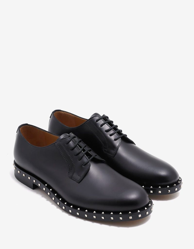 Black Derby Shoes with Rockstuds