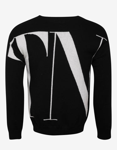 Valentino Black VLTN Cashmere Mix Sweater