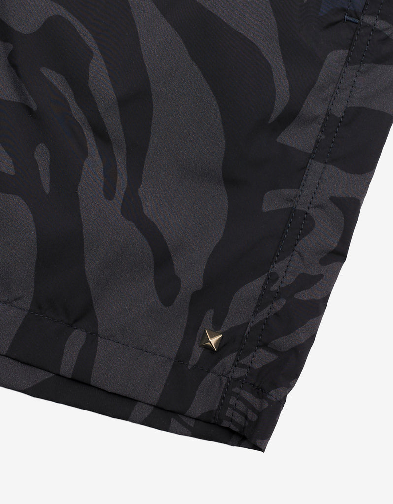 Tiger Camouflage Print Swim Shorts