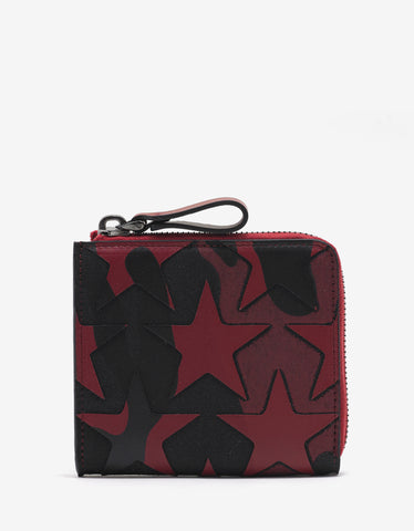 Valentino Garavani Camustars Red & Black Zip Wallet