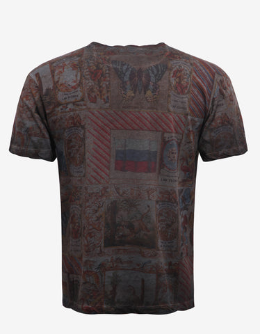 Valentino Cuban Cigar Box Graphic Print T-Shirt