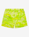 Florescent Yellow Camouflage Swim Shorts