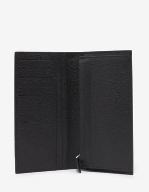Black Grain Leather Long Wallet