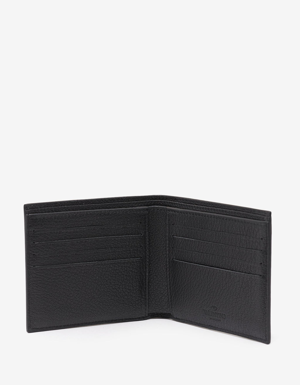 Black Grain Leather Billfold Wallet