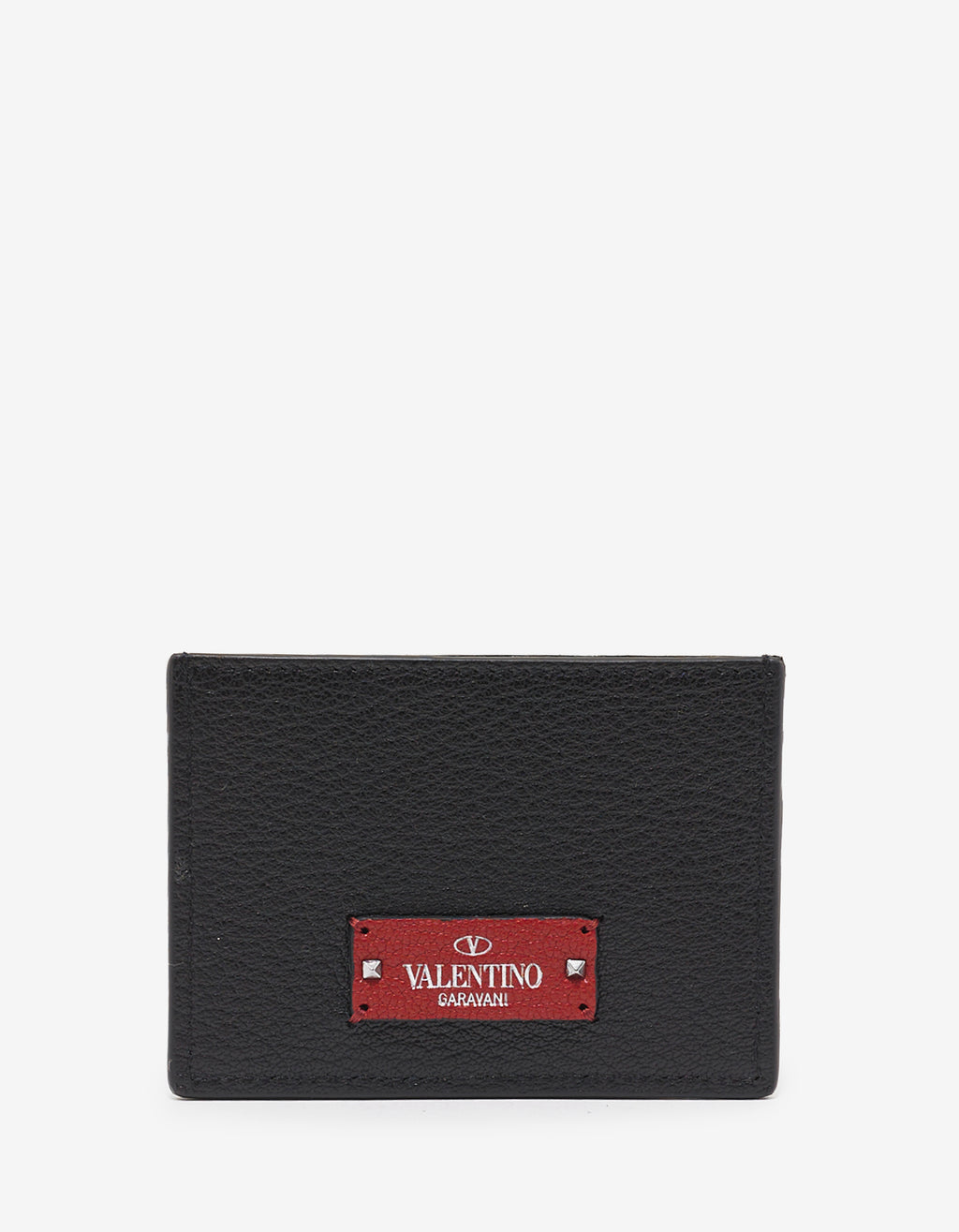 Black Grain Leather Card Holder